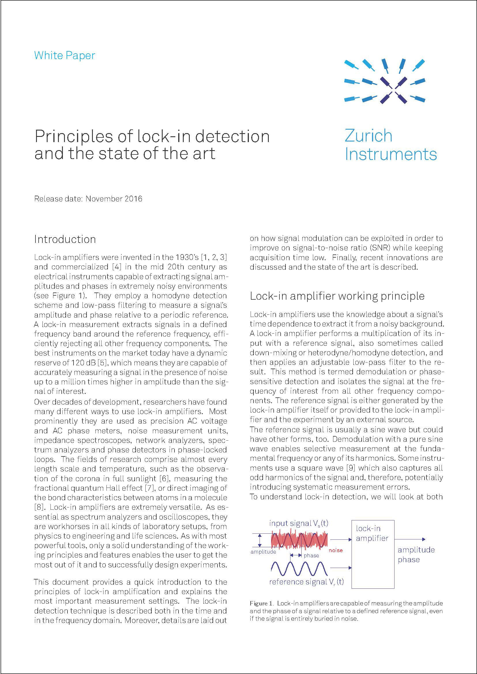 Principles Of Lock In Detection Lockin Amplifierj